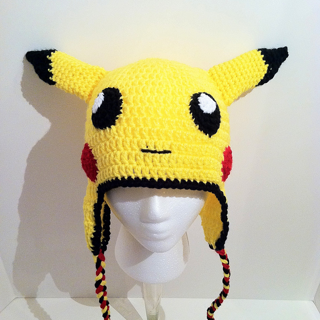 Ravelry Pikachu Looking Earflap Hat Pattern By Hooking Stitch