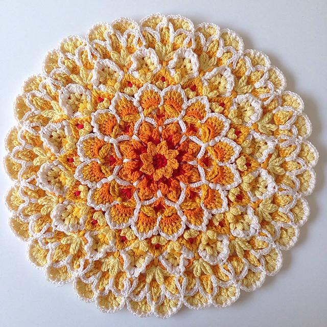 Ravelry Wildflower Cushion Block Pattern By Jen Tyler