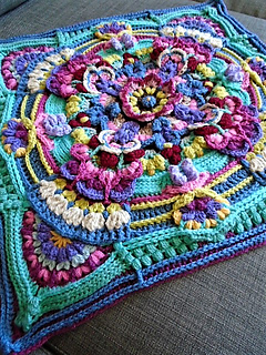 Ravelry High Tea Floral Block Pattern By Jen Tyler