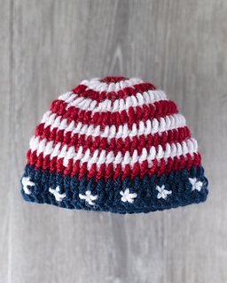 Ravelry  USA Flag Baby Beanie Hat pattern by Kate Hood 0f264c226edd