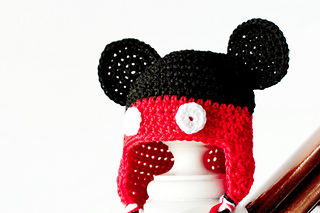 Ravelry  Mickey Mouse Inspired Baby Hat pattern by Olivia Kent e7ee4e59add