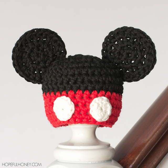 Ravelry Newborn Mickey Mouse Inspired Hat Pattern By Olivia Kent