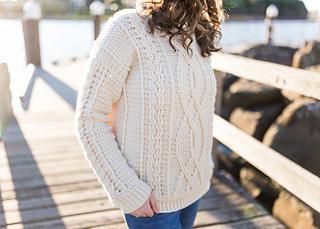 Ravelry Meara Fisherman Sweater Pattern By Olivia Kent