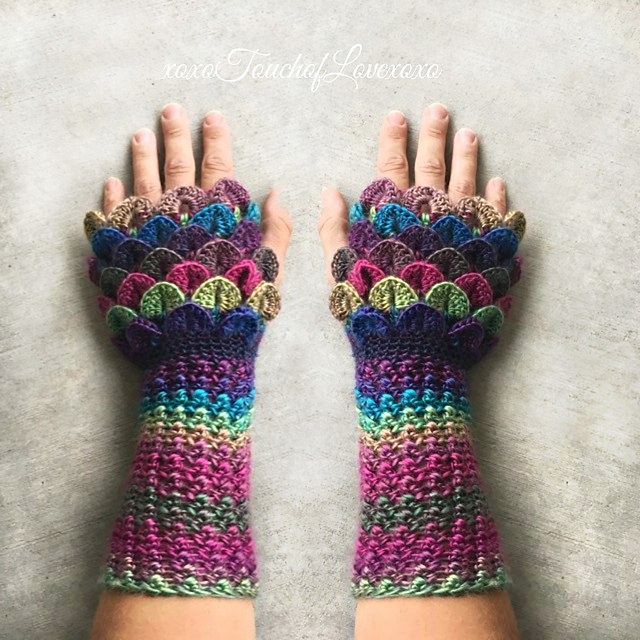 Ravelry Mermaid Dragon Fingerless Gloves Pattern By Sheila Hunt