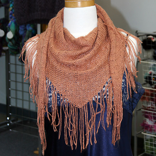 Firefly Fringed Scarf Pdf At Fiberwild Knitting Yarns Needles