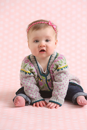 Ravelry: Baby's First Fair Isle Cardigan pattern by Amy Gunderson