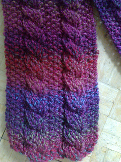 Easy Reversible Cable Scarves Pattern By Diana Jordan Ravelry