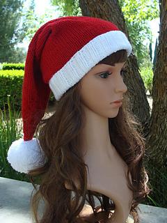9a37fe57abb Ravelry  Ho Ho Ho Santa Knit Hat with fold up brim pattern by Mary Legere