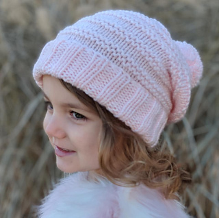804b8a7c33a Ravelry  Knit slouchy with Pom-pom pattern by Mary Legere