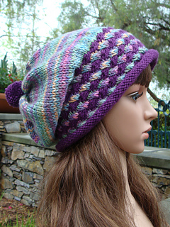 666b95d702a Ravelry  Knit Hat with Pom-pom pattern by Mary Legere