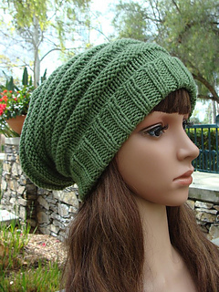 ee5ddab70d6 Ravelry  Beehive Slouchy with fold up brim pattern by Mary Legere