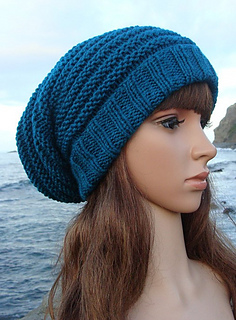 2ba448935a1 Ravelry  Sea-breeze Striped Slouchy pattern by Mary Legere