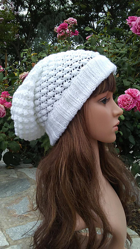 73e2d3b615b Ravelry  Knit Slouchy with fold up brim pattern by Mary Legere