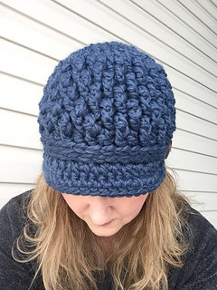 Ravelry  Cozy Textured Newsboy Hat pattern by In Stitches - Crochet ... eb50bb99e75