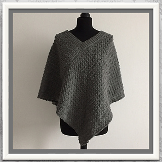 Ravelry: poncho with two rectangles pattern by Ingrid Geerings