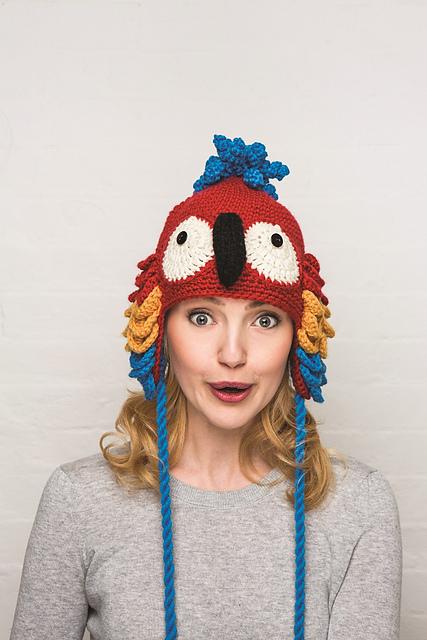 Ravelry Crocheted Animal Hats Patterns