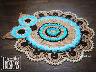 Ravelry Retro Owl Rug Or Doily Rug Nursery Mat Pattern By