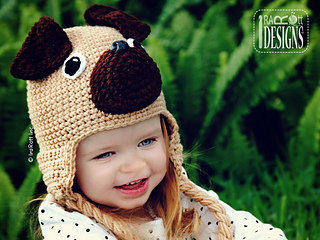 a54d9cdc434 Ravelry  The Pugfect Pug Hat pattern by Ira Rott