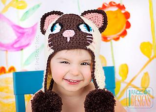 be7b44af5e2 Ravelry  Yin   Yang Siamese Kitty Hats pattern by Ira Rott