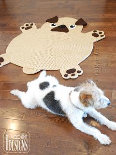 Free Crochet Pug Rug Pattern : Ravelry: The Pugfect Pug Rug pattern by Ira Rott