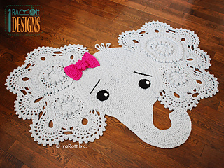 Josefina and Jeffery Elephant Rug pattern by Ira Rott