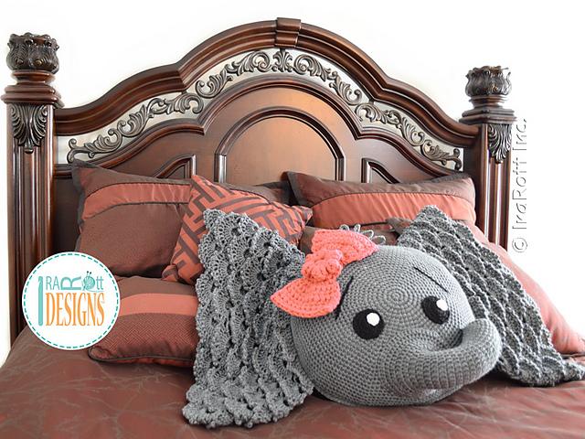 Ravelry Josefina And Jeffery Elephant Pillow Pattern By Ira Rott