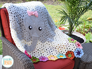 Ravelry Josefina And Jeffery Elephant Blanket Pattern By