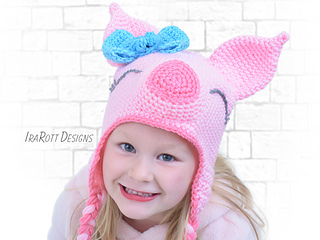 8bc668be6a9 Ravelry  Pinky The Piggy Pig Hat pattern by Ira Rott