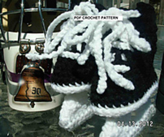 Free Crochet Pattern Baby Hat With Bow : Ravelry: Ice Hockey Skates pattern by Irish Hooks & Yarn