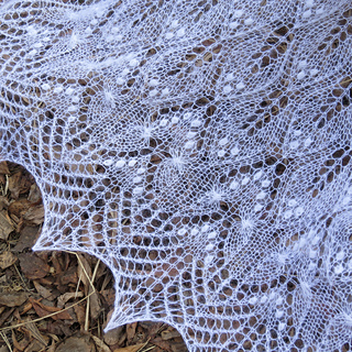 Ravelry Wavy Leaves And Butterflies Shawl Pattern By Athanasia