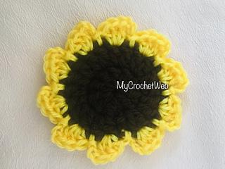 Ravelry Easy Sunflower Coaster Pattern By Ekta Sawant