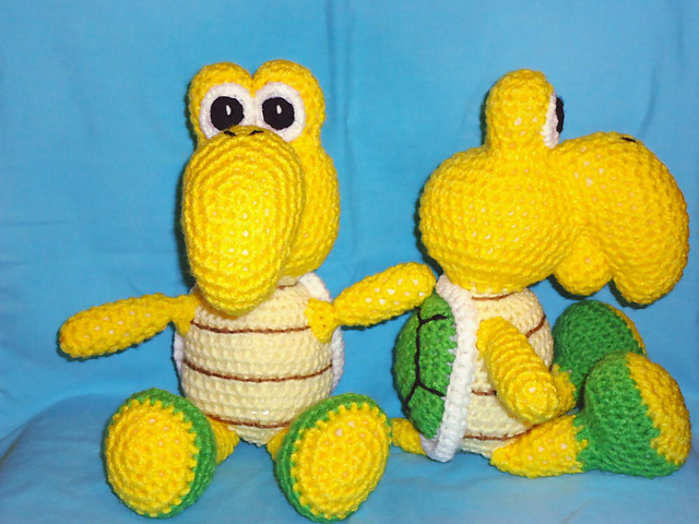 Amigurumi Turtle Pattern : Ravelry koopa troopa turtle amigurumi pattern by jennie faith