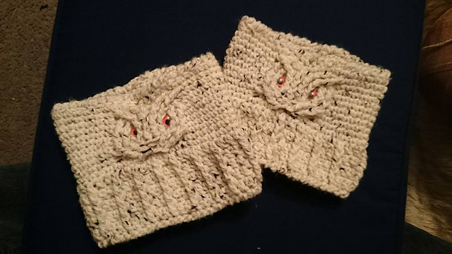 Ravelry Peekaboo Cable Owl Boot Cuffs Pattern By Jami Gamino