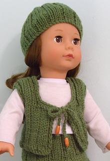 Ravelry American Girl Doll Hat Amp Waistcoat Pattern By