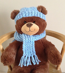 Ravelry Build A Bear Scarf And Hat Set Pattern By