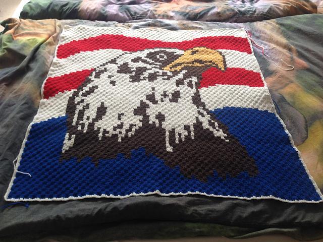 0527d8f6 Free Crochet Eagle Blanket Pattern – 2019 Inspirational Throw Blankets