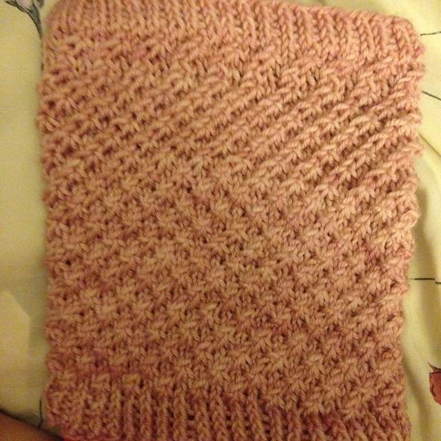 Sarah's Cowl pattern knit in Alegria Grande