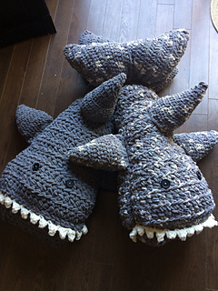 Ravelry Shark Body Pillow pattern by Jen Causley
