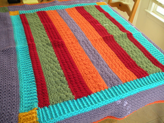 Ravelry Updated Amish Bars Throw Pattern By Katherine Eng