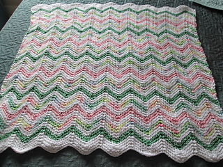 Ravelry Ripple Baby Blanket Crochet Pattern By Marilyn