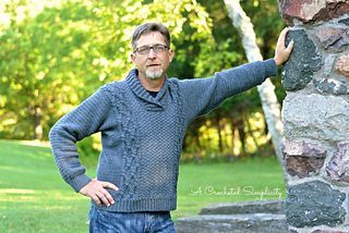 60fb56bb5 Ravelry  Midwestern Warmth Men s Cabled Sweater pattern by Jennifer ...