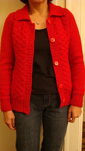 Basket Weave Vest Pattern : Ravelry easy basket weave cardigan pattern by ann e smith