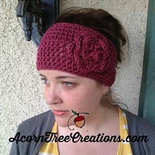 a2d6fbb0c Christy Flower Headwarmer pattern by Jenny Thomas