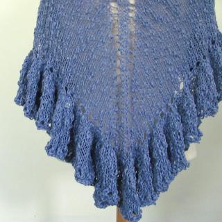 Ravelry Knit Ruffle Border For Triangle Shawl Pattern By Jill Tarabar