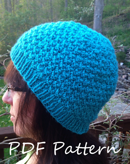 Ravelry  Double Seed Stitch Knit Hat Blue pattern by Joan Laws e187bb9e018