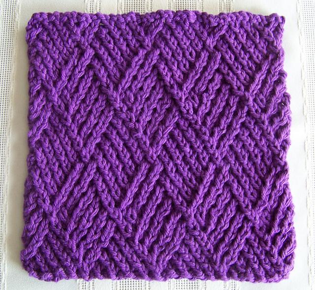 Ravelry: Kitchen Dishcloth ~ Twist Stitch Diamonds pattern by Joan ...