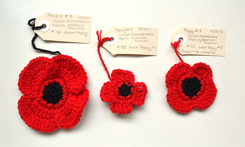 Ravelry: Crochet Remembrance Poppies pattern by Rebeckah Ferger