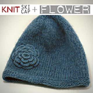 2942409c5b0 Ravelry  Knitted Hat With Garter Stitch Brim and Flower pattern by Johnnie  Saved By Love Creations