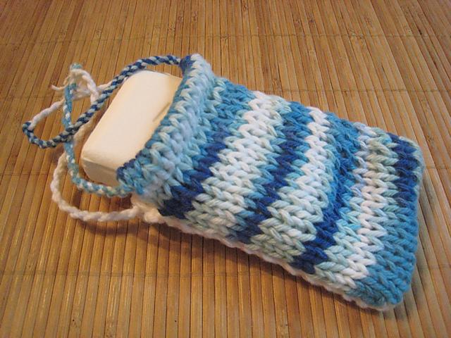 Ravelry Learn To Double Knit Soap Sack Pattern By Jolie Elder