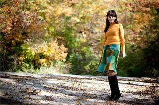 Y-839 Kureyon Sock Yarn Skirt pattern by Eisaku Noro & Co.,Ltd